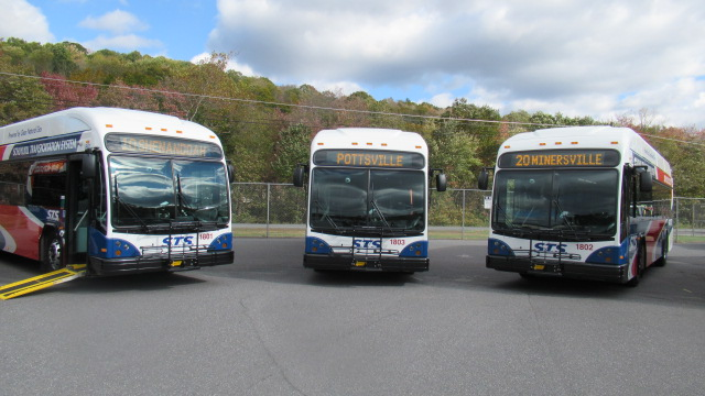 CNG Vehicles Arrive at STS