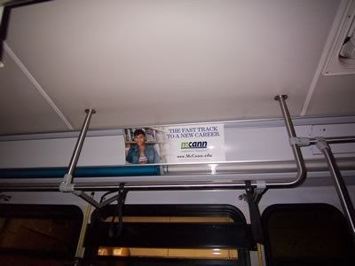 McCann Interior Bus Advertising Example