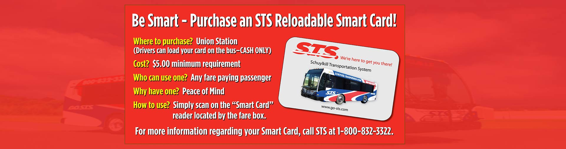 STS Reloadable Smart Cards